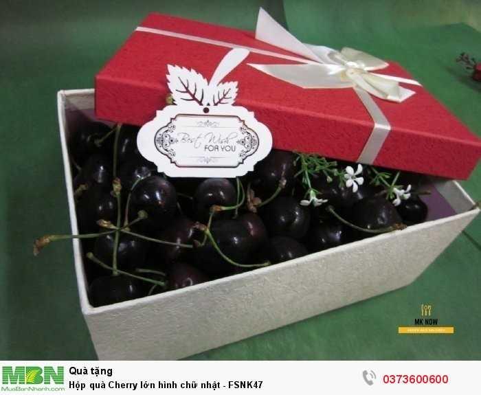 Hộp quà Cherry lớn hình chữ nhật - FSNK472