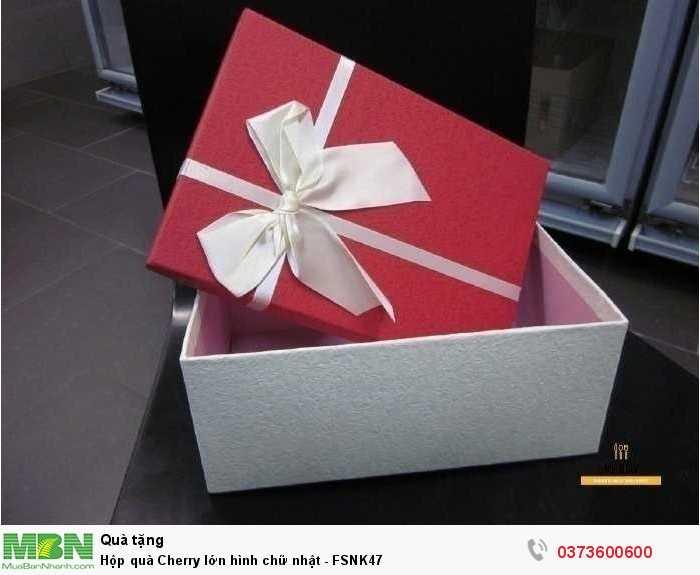 Hộp quà Cherry - hộp quà trái cây màu đỏ trắng8