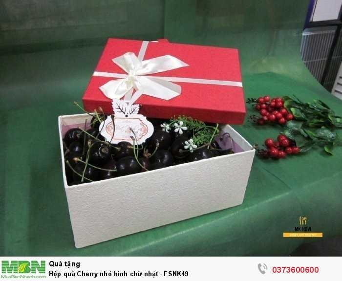 Hộp quà Cherry nhỏ hình chữ nhật - FSNK490