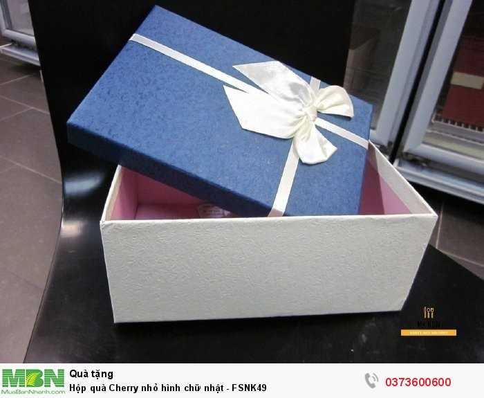 Hộp quà Cherry - hộp quà trái cây màu xanh trắng4