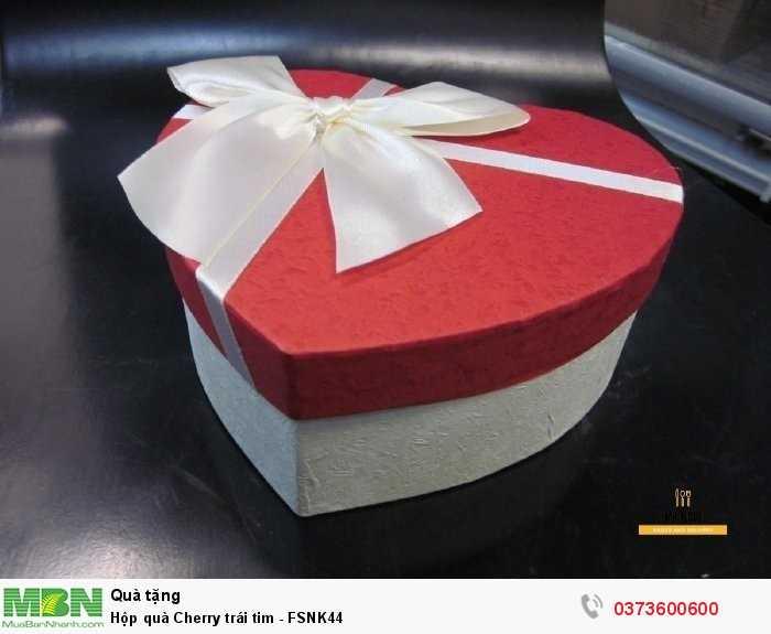 Đặt hộp quà Cherry trái tim - giao hàng tận nơi tại TPHCM