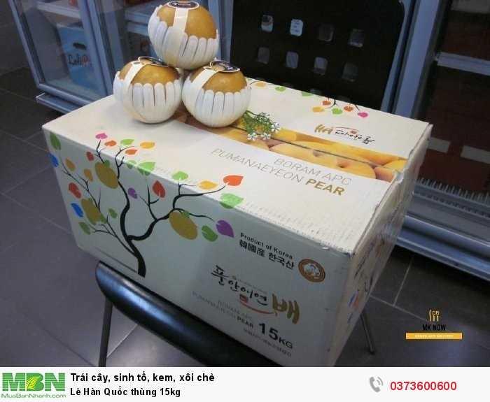 Lê Hàn Quốc thùng 15kg0