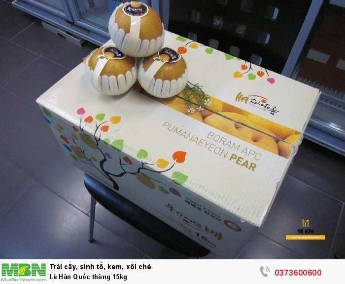 Lê Hàn Quốc thùng 15kgsize 30 - Trái cây nhập khẩu5
