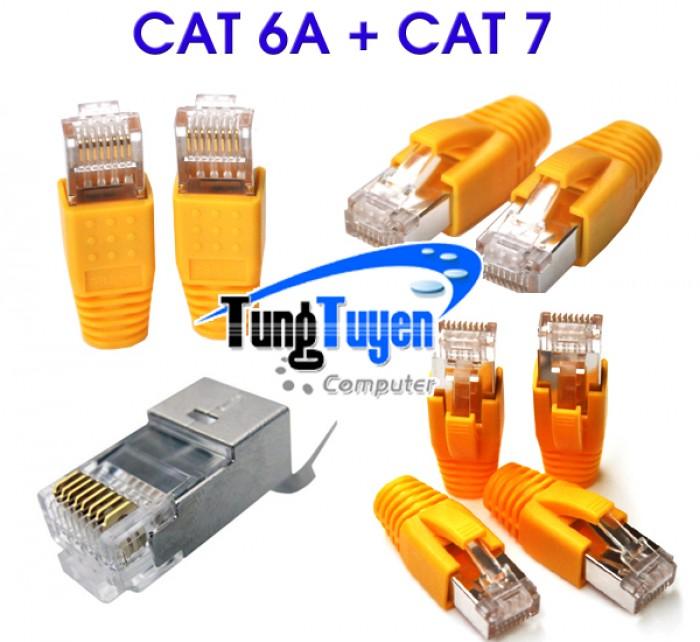 Hạt mạng Cat 6A + 7, Bộ gồm 2 phần như ảnh1