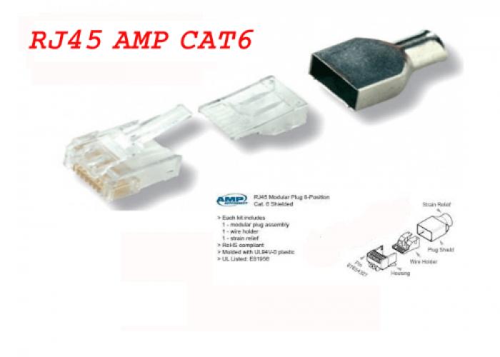Hộp bấm mạng Cat 6E - Loại 3+4 mảnh0