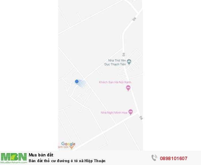 Bán đất thổ cư đường ô tô xã Hiệp Thuận