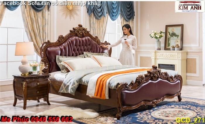 giường ngủ cổ điển bình dương0