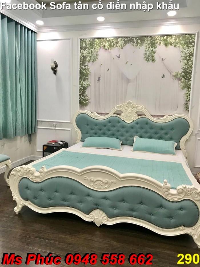 giường tân cổ điển gỗ tự nhiên tại Q3, Q417
