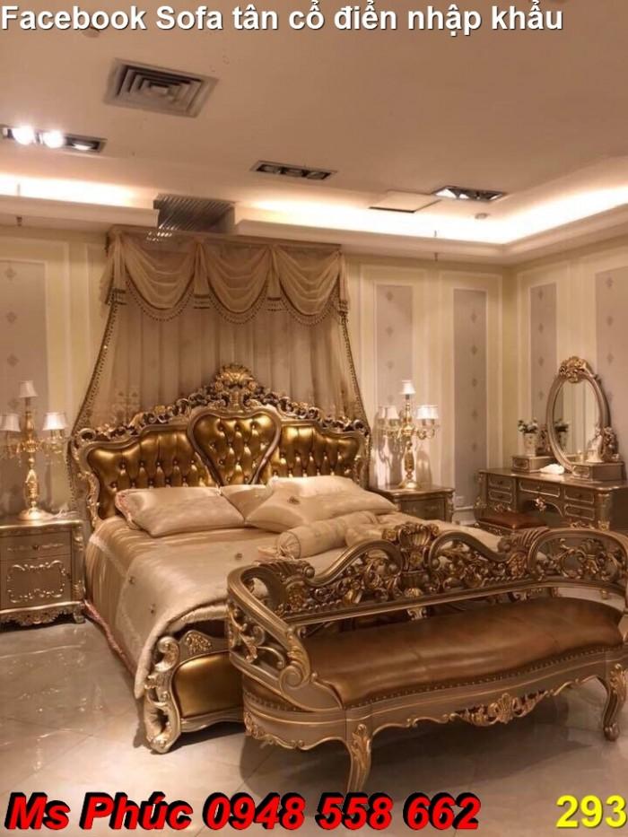 giường ngủ gỗ cổ điển Bình Dương19