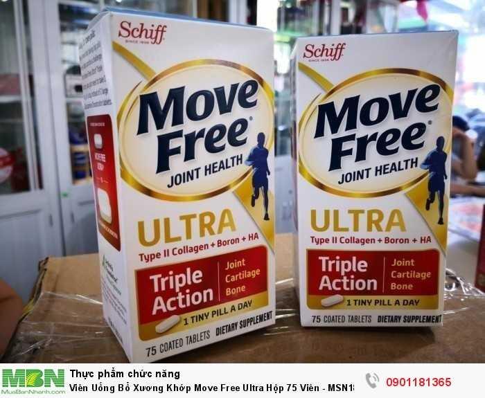 Viên uống bổ xương khớp Schiff Move Free Ultra Triple Action 75 viên của mỹ tích hợp 3 tác động hỗ trợ xương, khớp, sụn hoạt động linh hoạt, khỏe mạnh chỉ trong 1 viên nhỏ mỗi ngày.0