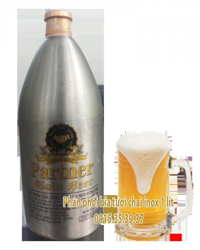 bia tươi chai inox, bia tươi bom inox 1-2 lít, bia tươi sài gòn cao cấp, bia tươi ly sài gòn5