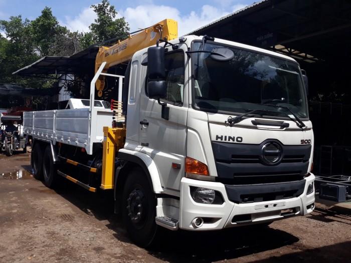 Mua bán xe tải Hino FG8JT7A thùng lững gắn cẩu SCS525