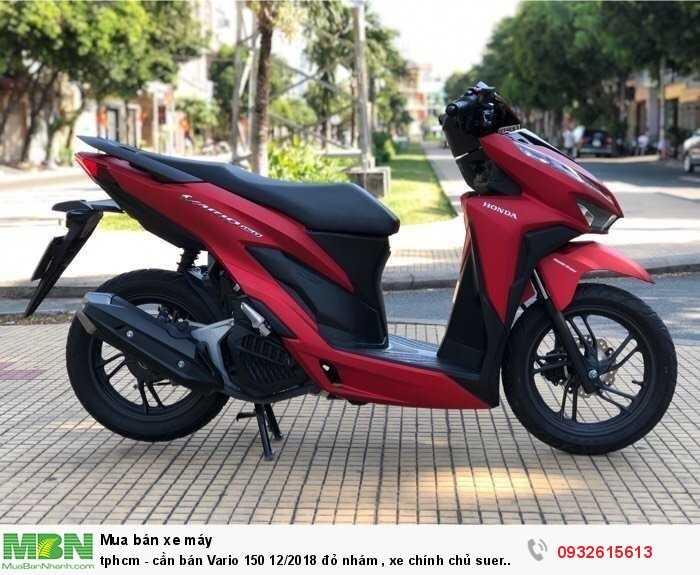 tphcm - cần bán Vario 150 12/2018 đỏ nhám , xe chính chủ sử dụng kĩ