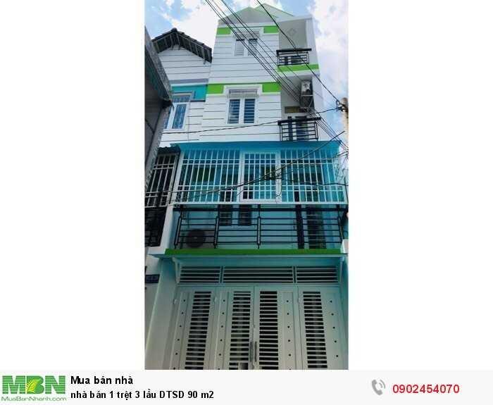 Nhà bán 1 trệt 3 lầu DTSD 90 m2