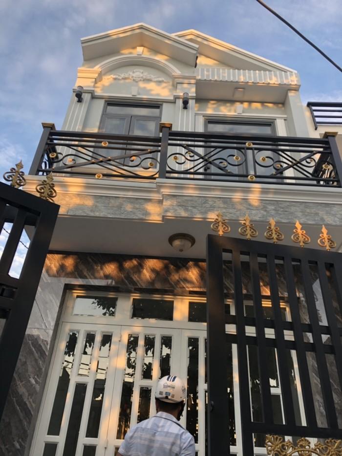 Bán nhà hẻm 1982 đường Huỳnh Tấn Phát, Nhà Bè, DT 4 x 14m, 1 lầu đúc, 2 PN.