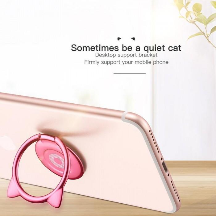 Giá Đỡ Hít Điện Thoại Iring Cao Cấp Cute Cat Ear Ring6
