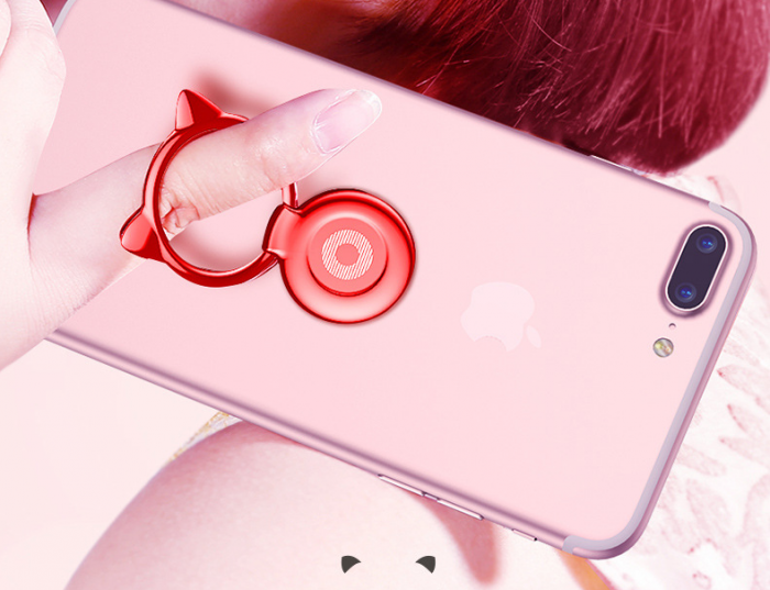 Giá Đỡ Hít Điện Thoại Iring Cao Cấp Cute Cat Ear Ring13