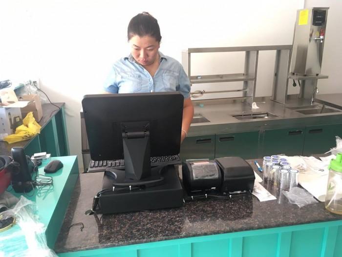 Bán Máy tính tiền Cảm Ứng, Máy in bill, Máy in tem cho Quán Trà Sữa tại Thủ Đức Bình Thạnh5