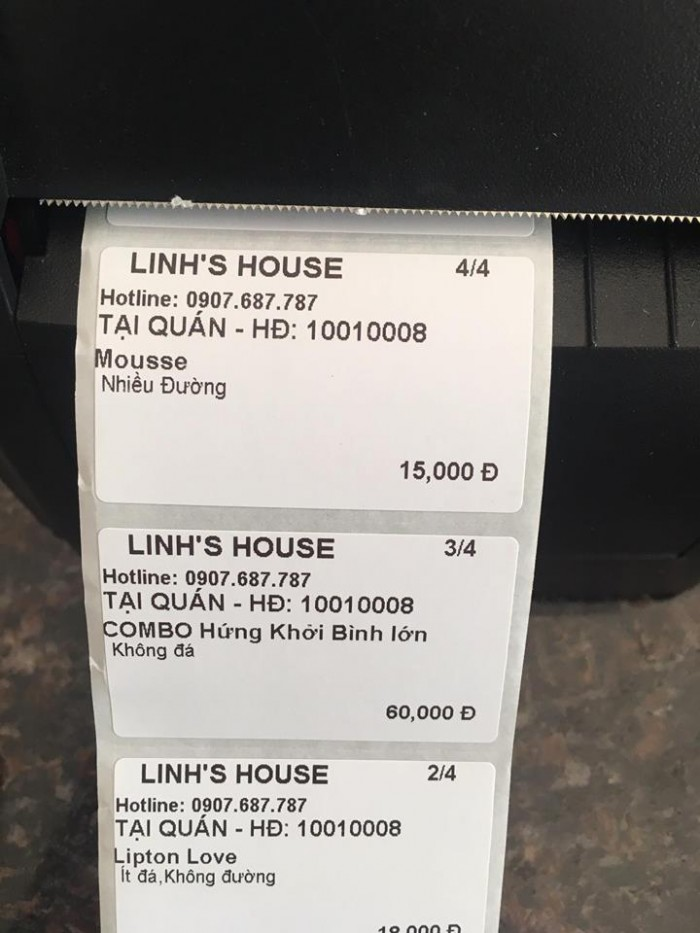 Bán Máy tính tiền Cảm Ứng, Máy in bill, Máy in tem cho Quán Trà Sữa tại Thủ Đức Bình Thạnh2