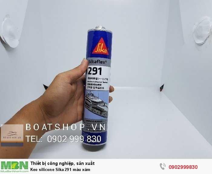 Keo silicone Sika 291 màu xám