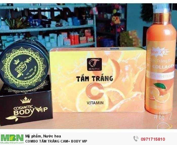 Combo Tắm Trắng Cam+ Body Vip2