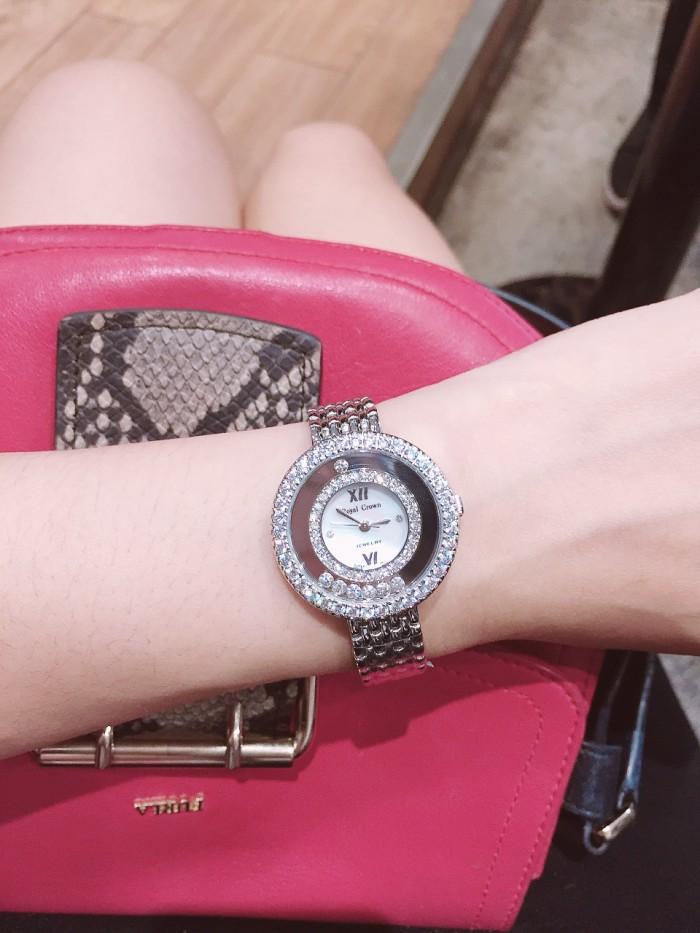 Đồng hồ nữ Royal Crown 3628 dây kim loại1