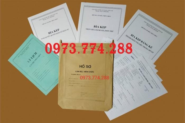 Công chức - Viên chức - Mẫu B01-B02-B03-B04-05-B06/BNV7