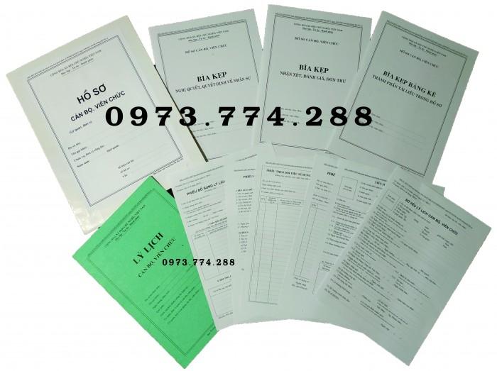 Công chức - Viên chức - Mẫu B01-B02-B03-B04-05-B06/BNV0