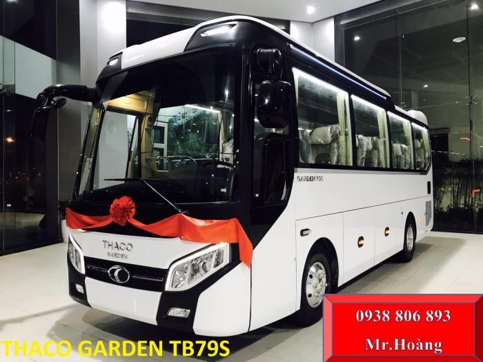 Dòng xe khách 29 chỗ bầu hơi Thaco Trường Hải . Thaco Garden Tb79s đời 2019 New