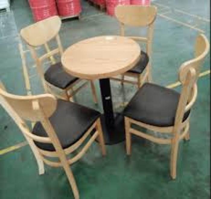 Bàn ghế gổ cafe giá rẻ tại xưởng sản xuất HGH 6920