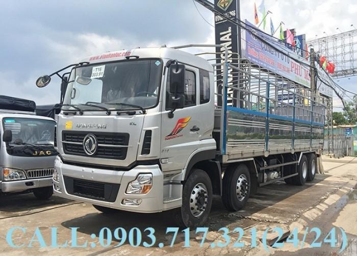 Bán xe tải DongFeng Hoàng Huy 4 chân tải 17T99. Xe DongFeng 4 chân YC310 tải 17T99 9