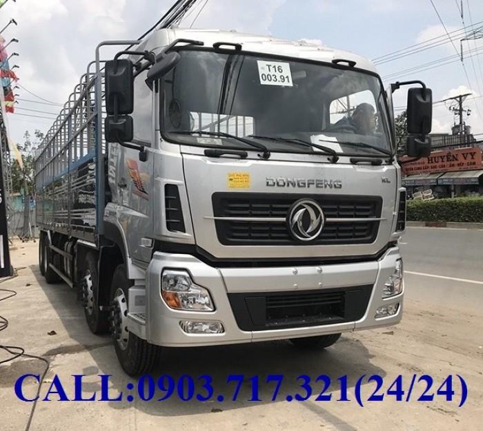 Bán xe tải DongFeng Hoàng Huy 4 chân tải 17T99. Xe DongFeng 4 chân YC310 tải 17T99 0