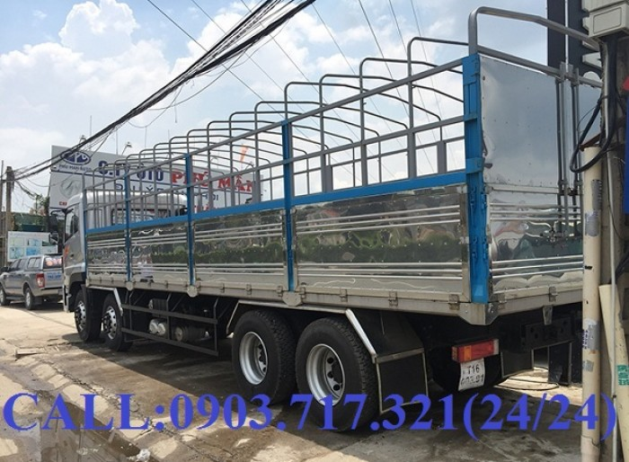 Bán xe tải DongFeng Hoàng Huy 4 chân tải 17T99. Xe DongFeng 4 chân YC310 tải 17T99 8