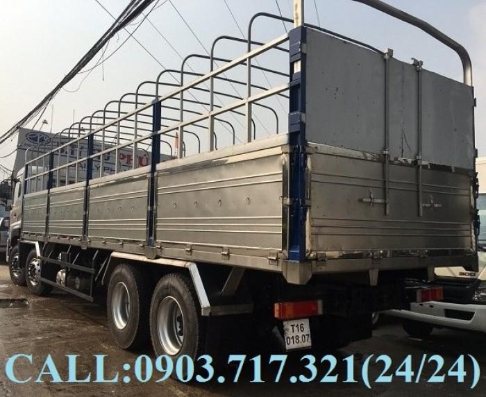 Bán xe tải DongFeng Hoàng Huy 4 chân tải 17T99. Xe DongFeng 4 chân YC310 tải 17T99 7