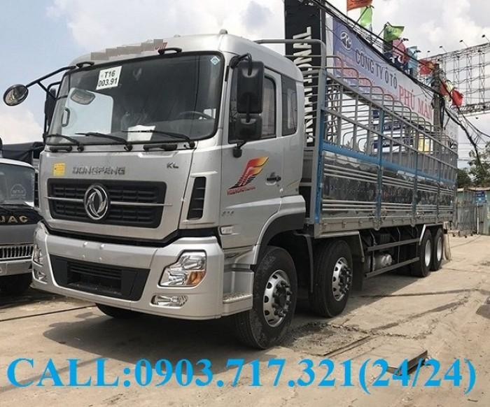 Bán xe tải DongFeng Hoàng Huy 4 chân tải 17T99. Xe DongFeng 4 chân YC310 tải 17T99 4