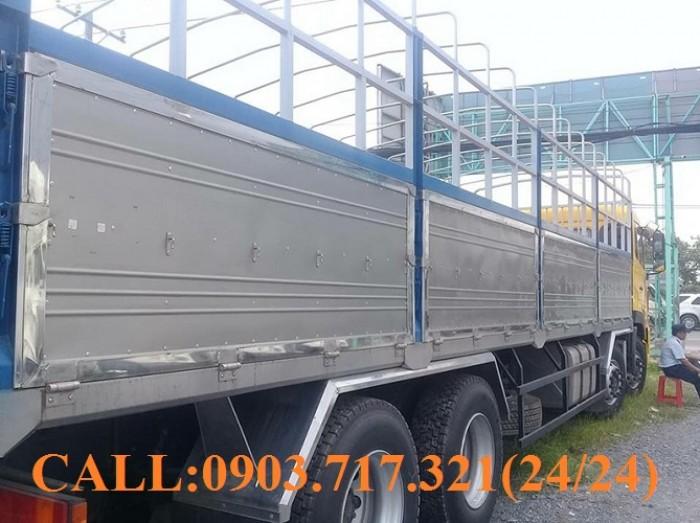 Bán xe tải DongFeng Hoàng Huy 4 chân tải 17T99. Xe DongFeng 4 chân YC310 tải 17T99 5