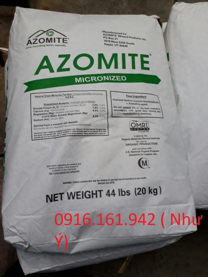 KHOÁNG ĐA VI LƯỢNG Thành phần: Azomite là sản phẩm khoáng khai mỏ tự nhiên, ch�...