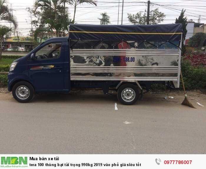 Tera 100 thùng bạt tải trọng 990kg 2019 vào phố giá siêu tốt