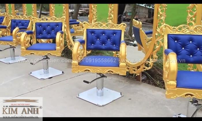[6] Nơi bán ghế cắt tóc nữ cao cấp cổ điển hoàng gia giá rẻ
