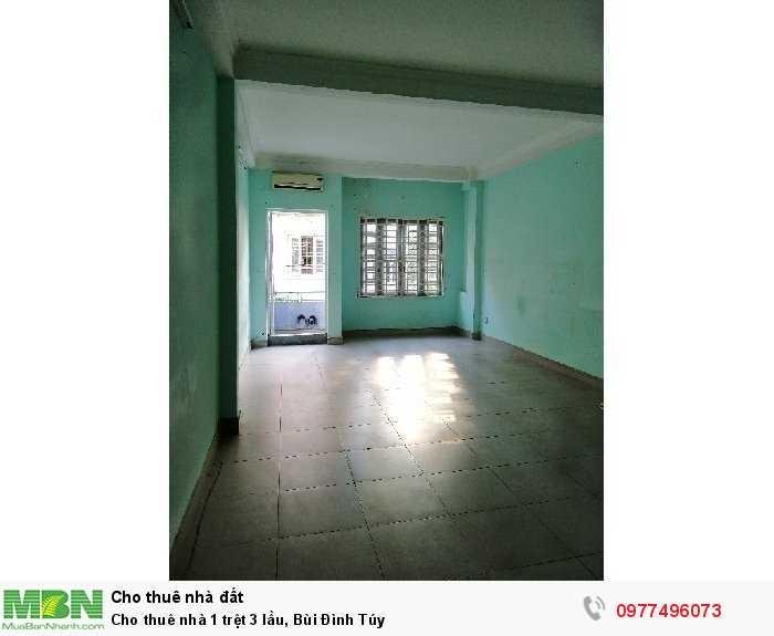 Cho thuê nhà 1 trệt 3 lầu, Bùi Đình Túy