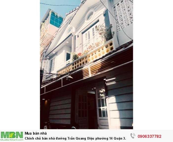 Chính chủ bán nhà đường Trần Quang Diệu phường 14 Quận 3.