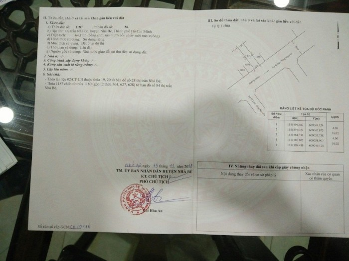 Bán lô đất sổ riêng KDC Sài Gòn Mới đường Đào Tông Nguyên KP7 thị trấn Nhà Bè TPHCM, DT 4m x 16m