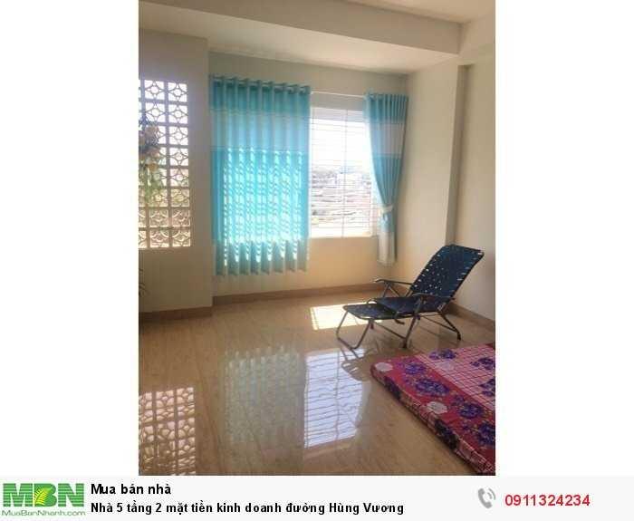 Nhà 5 tầng 2 mặt tiền kinh doanh đường Hùng Vương