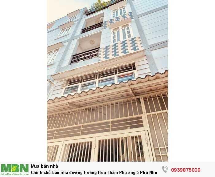 Chính chủ bán nhà đường  Hoàng Hoa Thám Phường 5 Phú Nhuận.
