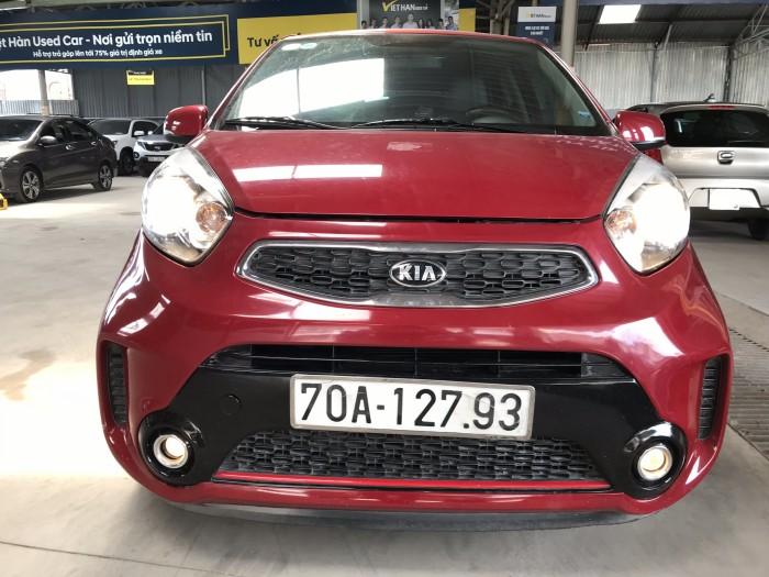 Bán Kia Morning SI 1.25MT màu đỏ số sàn sản xuất 2017 mới 90%