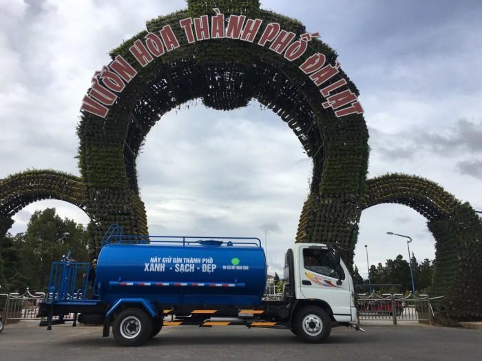 Bán xe téc phun nước tưới cây rửa đường 7 khối Ollin 700c 5