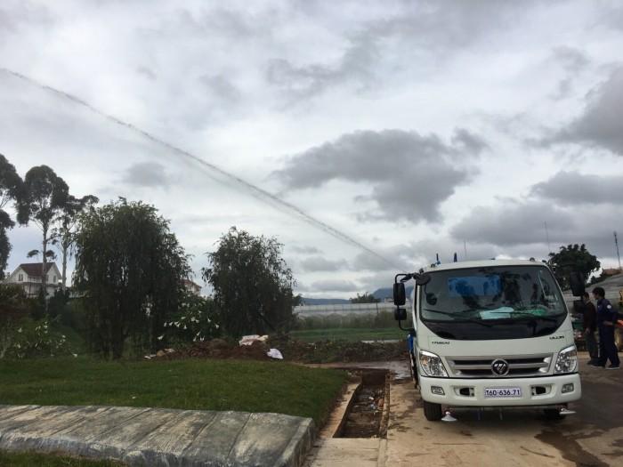 Bán xe téc phun nước tưới cây rửa đường 7 khối Ollin 700c 4
