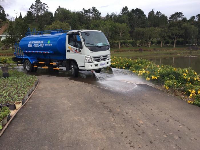 Bán xe téc phun nước tưới cây rửa đường 7 khối Ollin 700c