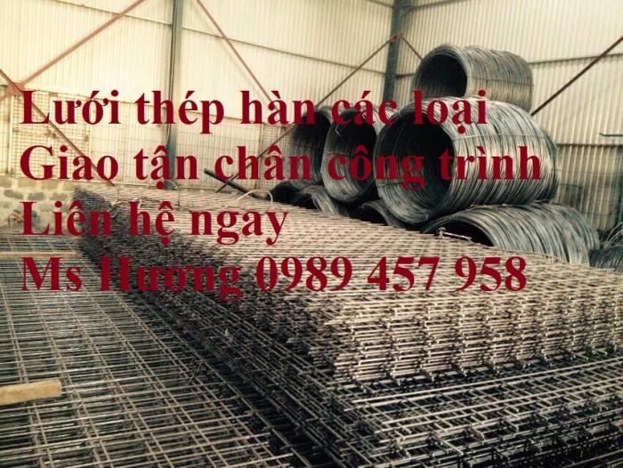 Nhà máy sản xuất Lưới hàn chập phi 5, lưới đổ bê tông phi 6 a 200*200, 250*2503