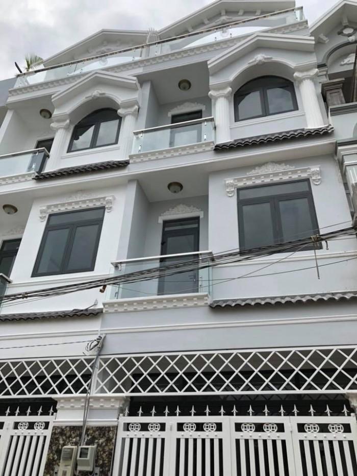 Bán nhà hẻm 2177 đường Huỳnh Tấn Phát, TT Nhà Bè, HCM. DT 4m x 12.5m, 3 lầu 4 PN